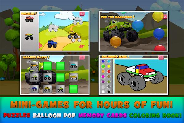 Monster Trucks Game for Kids 2 - screenshot