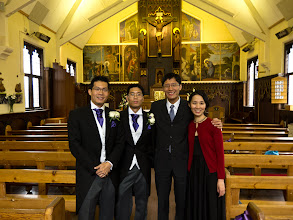 Photo: We were in the UK to attend the wedding of my friend Tze Hua (middle, his brother on the left)