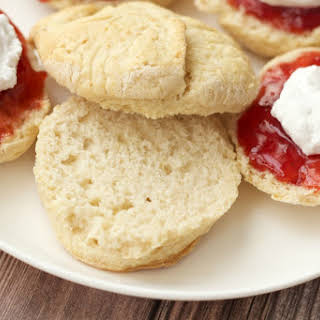 Must-Try Vegan Scones with Jam and Whipped Cream.