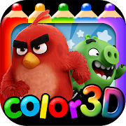 Download Angry Bird Coloring World Travel (AR Coloring) APK