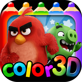 Angry Bird Coloring World Travel (AR Coloring)