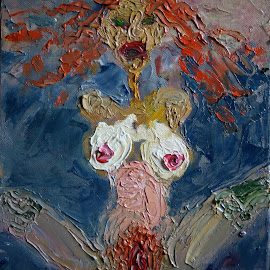 Dakini by To Mi - Painting All Painting ( oil, painting, dakini, nude, mickonis, eros )