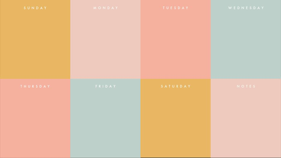 Colorful Weekly - Calendar Template