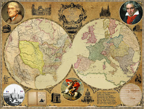Photo: This is a custom map I made for a client showing Jefferson, Napolean, and Beethoven and what happened around 1804...