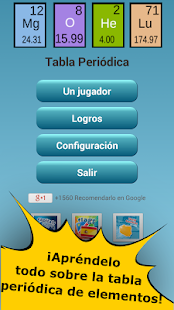 Quiz de la tabla peridica aplicaciones en google play captura de pantalla urtaz Choice Image