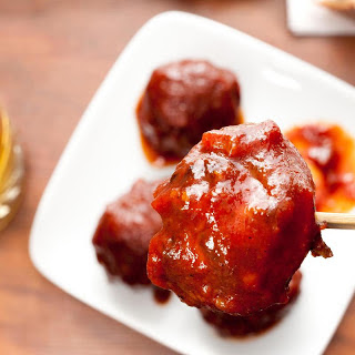 Elk Meatballs with Bourbon Barbecue Sauce Recipe
