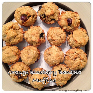 Orange Blueberry Banana Muffins