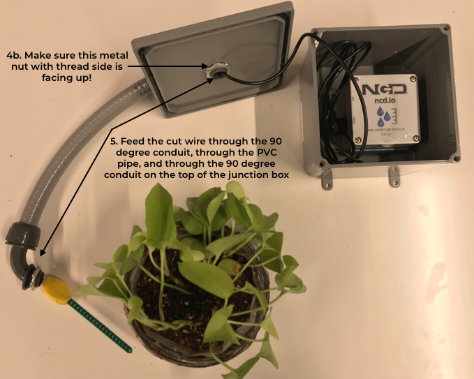 image of the full setup of the soil moisture monitoring application