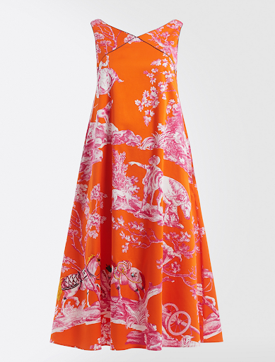 Weekend Max Mara x Richard Saja Orange & Pink Printed Dress