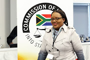 Former director-general of the department of justice and constitutional development, Nonkululeko Sindane, appears at the state capture commission of inquiry on July 3 2019.
