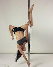 Photo: Cynthia Lau - Twisted Flip with Z Leg Line - Vertical Pole Gymnastics @ Pole Fitness Studios