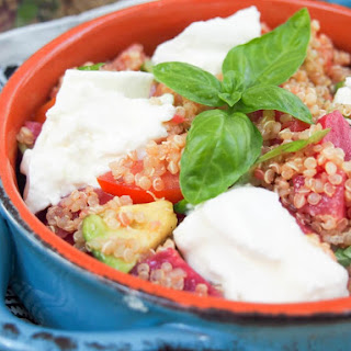 Caprese Quinoa Salad With Beets And Avocado