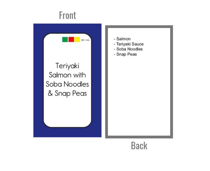 Color Combo Meal Cards Front & Back