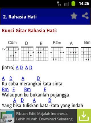 Chord Gitar Pemilik Hati