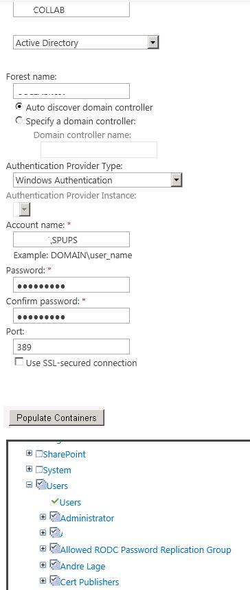 SharePoint 2010: Configuração do serviço de sincronização
