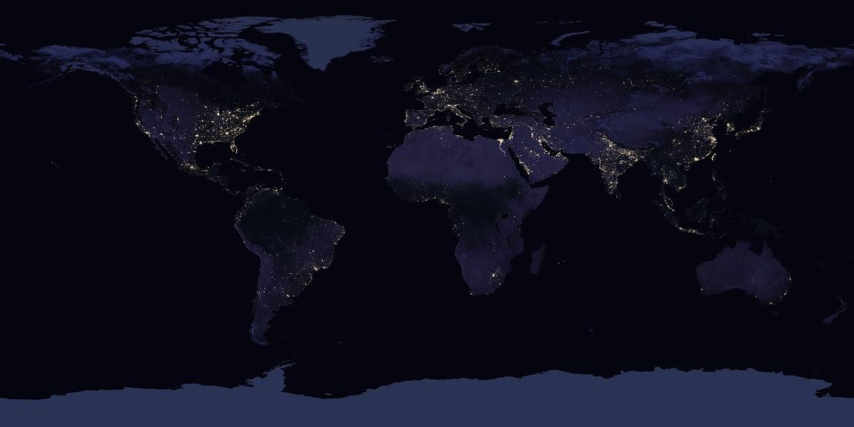 Satellite Views Of Earth At Night Nasa Google Arts Culture
