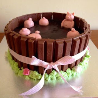 Pigs in Mud Cake.