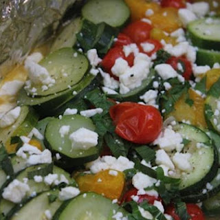 Zucchini with Tomatoes, Feta and Mint