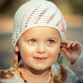 Sunset Girl by Vaidotas Maneikis - Babies & Children Child Portraits ( vaidotasmaneikisphotography, smooth, color, family, children, kids, portraits, KidsOfSummer,  )