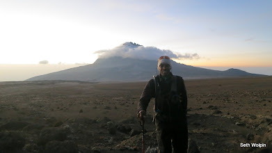 Photo: Sun rise over Mt. Mawenzi (5149m,16893ft), a cousin peak joined by 'the saddle'  1:17 into run