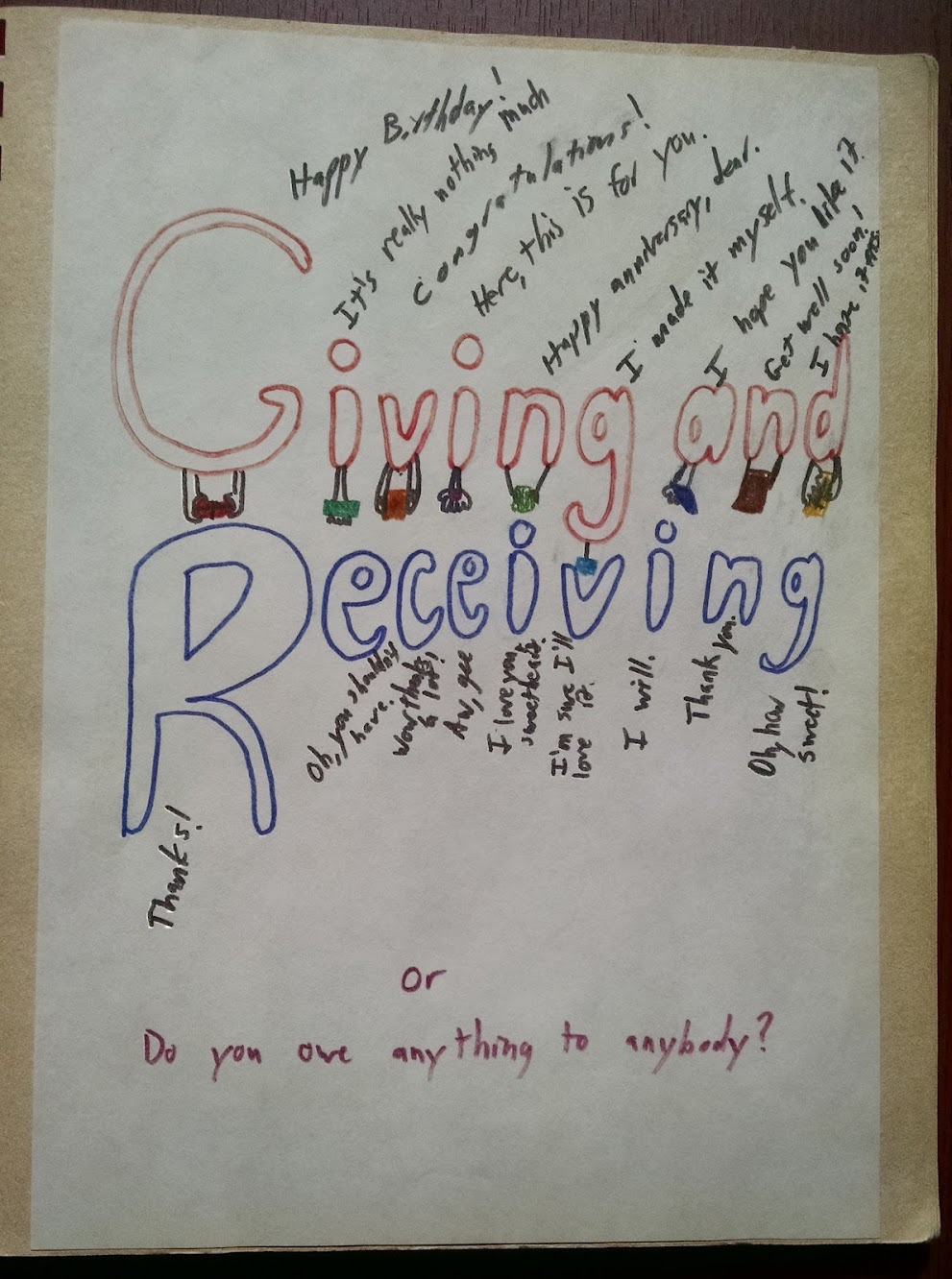 Giving and Receiving title page
