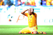 Lebogang Manyama of Kaizer Chiefs reacts after a missed chance  on Saturday.