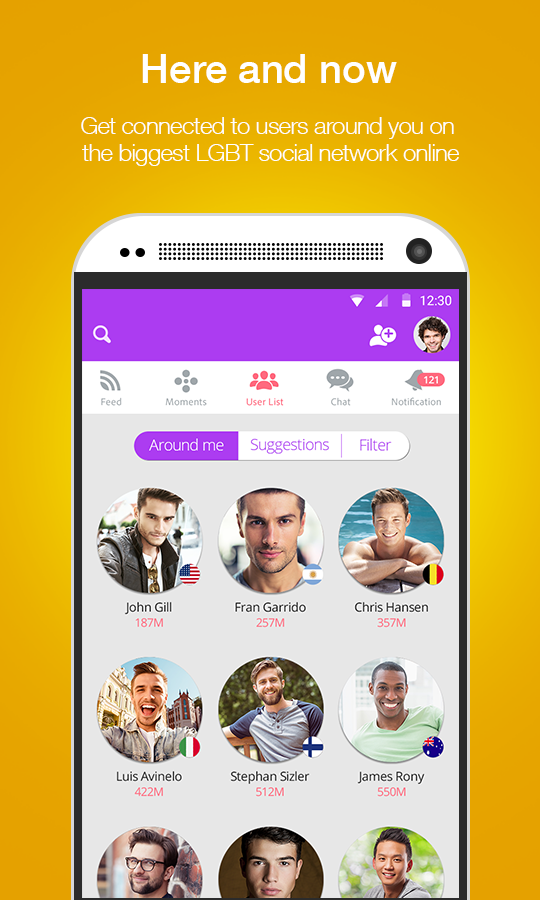 Moovz- The LGBT Social Network- screenshot