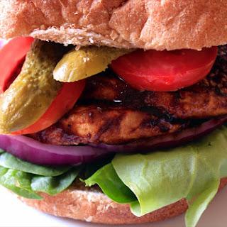 BBQ Eggplant Sandwich