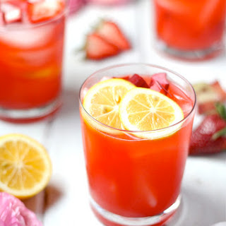 Strawberry Rhubarb Lemonade.