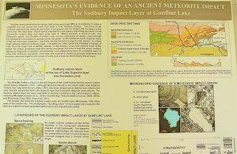 Photo: Mark Jirsa gave us a quick explanation of the Sudbury, Ontario meteorite impact.