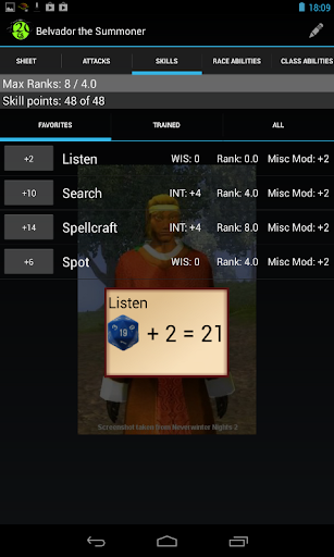 d20 Character Sheet screenshot 3