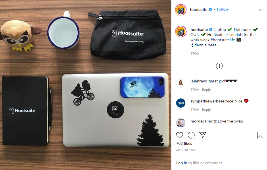 instagram post example from Hootsuite