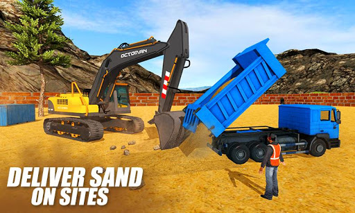Heavy Excavator Crane: Construction City Truck 3D painmod.com screenshots 3