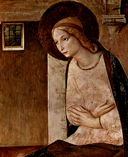 Photo: ''Magnificat'' by Fra Angelico circa 1437-1446. San Marco, Florence  Luke 1:46–56 ESV Mary's Song of Praise: The Magnificat  Theme: JOY TO THE WORLD ~ Series: The Baby Who Changed The World ~ Message: He Confounds the World ~ Scripture: Luke 1:46–56 ESV; https://sites.google.com/site/biblicalinspiration1/biblical-inspiration-1-now-thank-we-all-our-god-changed-by-worship-the-moody-church/biblical-inspiration-1-o-come-o-come-emmanuel-series-the-baby-who-changed-the-world-message-he-redeems-the-world-the-moody-church/biblical-inspiration-1-joy-to-the-world-series-the-baby-who-changed-the-world-message-he-confounds-the-world-the-moody-church