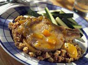 Peach-glazed Pork Chops Recipe