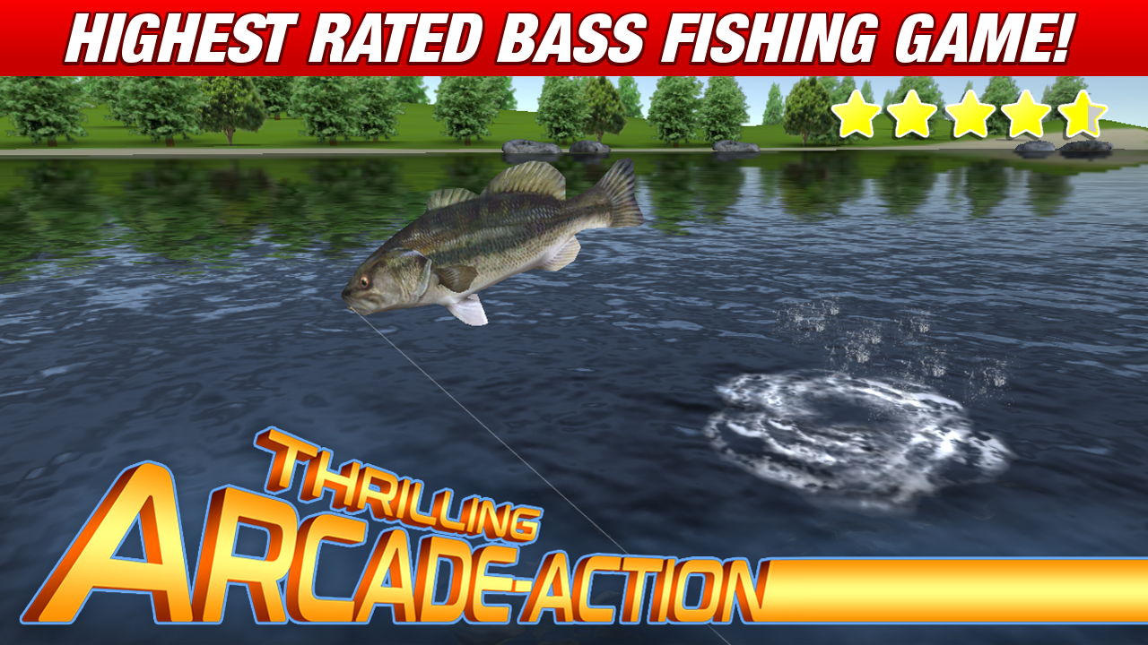 Master bass angler free fishing game android apps on for Bass pro shop fishing games