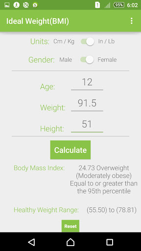 Ideal Weight - Body Mass Index