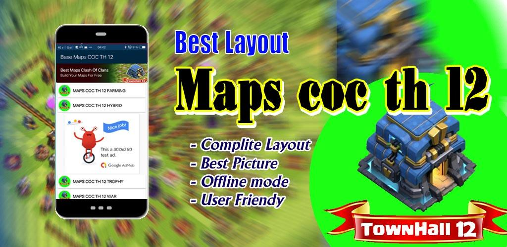 Download Base COC TH 12 New Update APK latest version 1 0