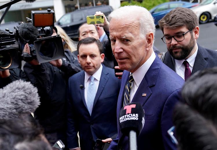 Former US vice-president Joe Biden.