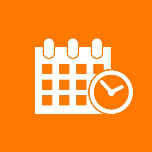 Agenda Orange Icon