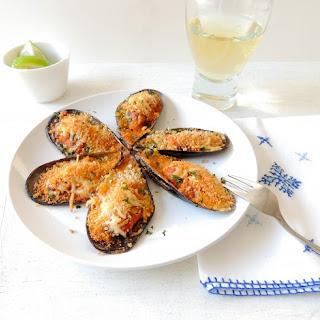Moules Gratinées - Mussels Au Gratin
