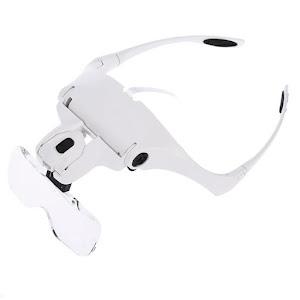 Ochelari cu lupa, reincarcabili, iluminare led, lentile interschimbabile