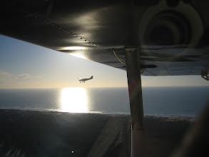 Photo: Mon Savannah S vu depuis celui de Yves soleil couchant en fond au dessus de Cap Ferret