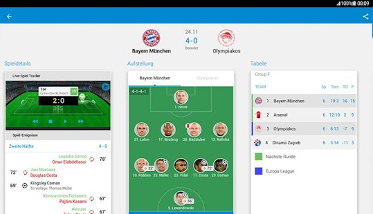 365Scores Fußball Live ticker Screenshot