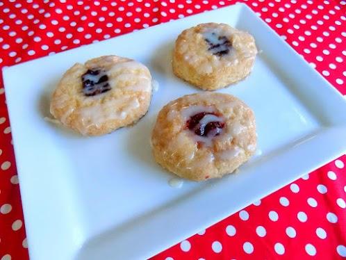 Leila's Glazed Cinnamon Fruit Biscuits