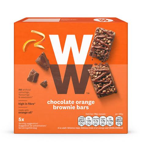 Chokladbar med apelsin- och browniesmak