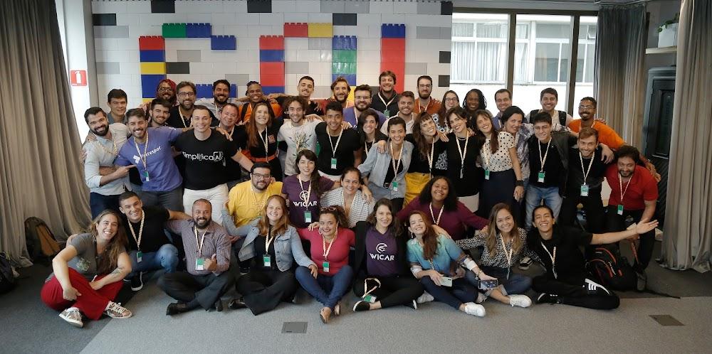 Turma #1/2020 da Startup Zone na sessão de boas vindas do programa