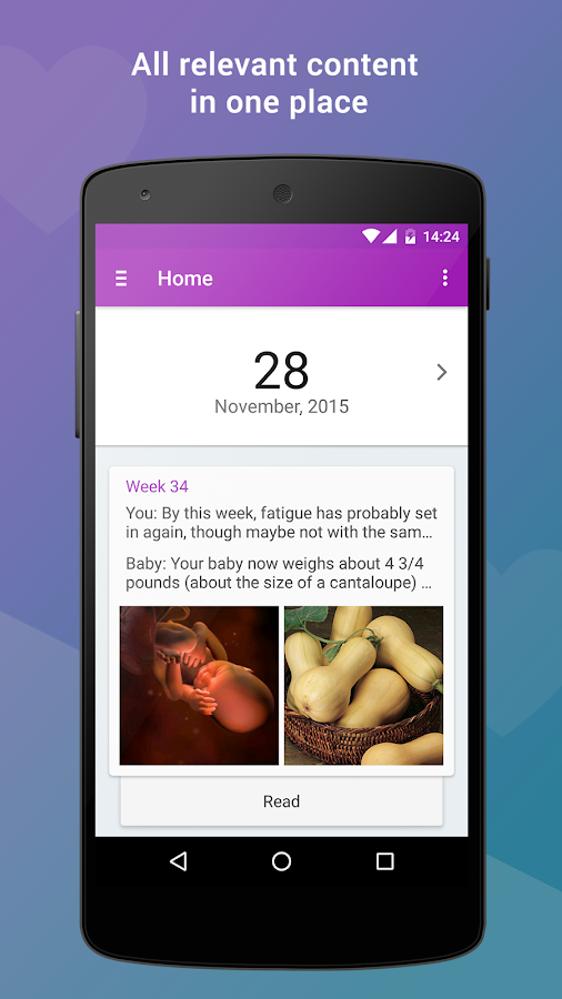 Pregnancy App Expertli (Free)- screenshot