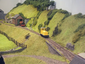 Photo: 119 Even if it does appear 150 years out of period, the little yellow diesel does fit into the early Abergynolwyn scene quite well, don't you think? .