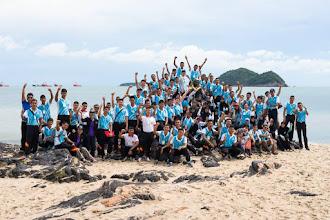 Photo: เยาวชน LESA กลุ่มนี้ประกอบด้วย นักเรียนนายร้อย นักเรียนนายเรือ นิสิตจุฬาฯ นักศึกษามหาวิทยาลัยอื่นๆ และ นักเรียนดาราศาสตร์อิสลาม (IAC) จากสามจังหวัดชายแดนภาคใต้